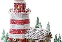 christmas - gingerbread lighthouse