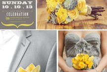 Yellow and grey wedding theme