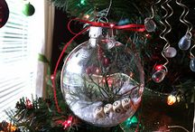 Christmas crafts / DIY clear ornaments