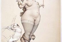 Fat Cartoons /    Desenhos de mulheres gordas.