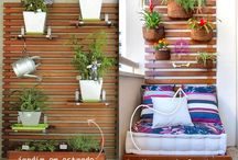 Varanda com jardim