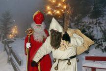 Zwitserland / Samichlaus, Santiglaus, Schmutzli / In  Zwitserland heet Sinterklaas Samichlaus of Santiglaus en rijd meestal op een ezel. Zijn hulp heet Schmutzli.