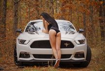 Girls and cars.