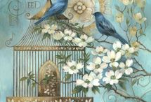 Kafeste mavi kuş