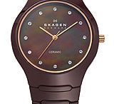 Skagen Watches / Skagen Black Blue Titanium Mens watch,Polished silver tone sword hands,Skagen  Multifunction presenting 24 hour, day and night out subdials, Polished black hands using luminous accents