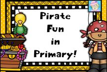 Pirate Fun in Primary / Aye, me hearty, ye 'ave found some treasure here!  This board has FREE and priced pirate-themed resources and ideas for the primary grades.  If ye be a pinnin' to this board, kindly 'ave one FREE for every paid.  Thanks, Matey!