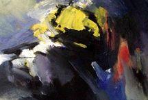 Tableaux peinture abstraite / Nouvelles peintures sur toile abstraites en orientation horizontale. A partir de 49.90 € seulement. Huile sur toile sur châssis en bois