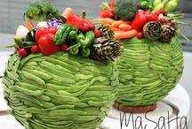 Овощи и фрукты во флористике