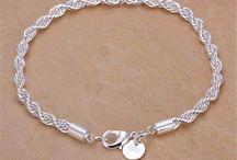 Simple Silver Plated Bracelet