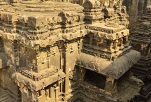 One-Rock Bldgs. / All these buildings are carved in place from a single rock.