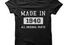 Born in the 40s T-Shirts / Were you born in the 1940s? Then we have the perfect tees for you. Custom and one-off tee designs quickly printed - info@theteemerchant.com