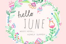 June brings tulips, lilies, roses, Fills the children's hand with posies. / The month of June