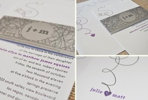 Wedding Invitations / Ideas for wedding invitations, stationary, fonts, etc. / by Angela @ Eat Spin Run Repeat