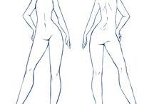 크로키 또는 색채관련 인체,손,눈,드로잉