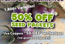 Coupons / Savings! / by Sustainable Seed Co.