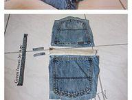 Tas van denim / Zak van spijkerbroek
