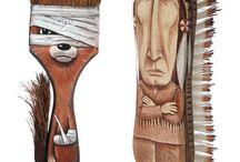 Personatges objectes / Personatges fets amb objectes senzills i cuotidians.
