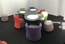 Case study - Breakout Furniture installation / A fun and colourful installation that we have just completed for another happy customer. If you would like more information on the products please call Rapid Office on 01708 755666.