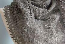 knitting shawl / gestricktes dreieckstuch