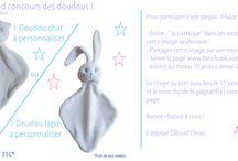 Le Grand concours des doudous / La page facebook : www.facebook.com/ziboodchou  A gagner, un doudou chat ou un doudou lapin à personnaliser d'un prénom d'une valeur de 33.80€TTC* ! Coloris au choix.   Pour plus d'info http://www.ziboodchou.com/content/22-règles-tirage-au-sort-facebook.  Bonne chance à tous !   *frais de port compris  #concours #tirageausort #jeu #doudou #ziboodchou