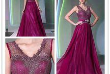 Společenské šaty - fialová