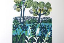 Linocut printing / by Alison Bick Design