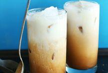 coffee, tea, nut milks