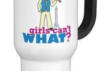 Girls Can't WHAT? Rocket Scientist / The coolest place for Rocket Scientist Girls and the famous Girls Can't WHAT? gifts that you can choose from to have and to give.