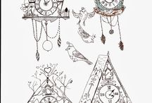 Cuckoo Clock Illustrations