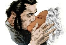 Comic art 35=Wolverine Logan-Stom-Torrent (Kendall Logan)-Backa Munroe-Mariko Yashida-Itsu / Shilver Samurai (Shingen Harada)-Daken (Danken Akihiro)-Miss Sinister-X-23 (Laura Kinney)-Yukio