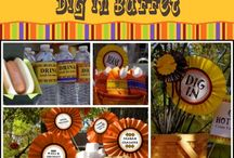 Fall Party Printables / Fall Party Printables - Celebrate Fall Festivals and Hay Ride Events with our festive fall party printables. Fall printables for the fall buffet, s'mores bar, cupcake wrappers, fall chili bar, and more...