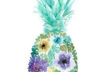 Акварельні квіти