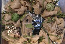 Home ...Wreaths and Decorations / by Anne Jackson