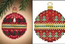 Vyšívání - vánoční ozdoby, zima