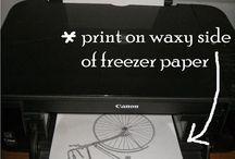 Inspiratie freezer paper