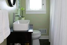 small bathroom ideas / by Amy Higgins-Margalli