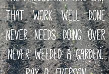 Garden Quotes / Quotes from the gardening world.