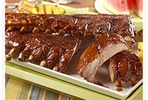 Pork Ribs for Any Occasion / Tasty, saucy pork rib recipes that are great for holidays, graduations, birthdays, or just because. Make them on the grill, in the oven, in your slow cooker or even the smoker if you've got one.  / by Pork