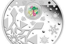 Christmas and New Year coins / Neujahr und Weihnachtsmünzen / Christmas and New Year coins distributed by EMK / Neujahr und Weihnachtsmünzen im Angebot bei EMK