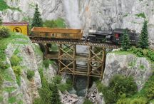 Model train layouts