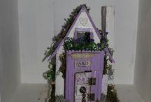 FAIRY COTTAGE / сказочные домики, ручная работа, миниатюра, кукольный дом, Рождество,новый год,