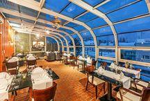 """ORO italian restaurant / Ve výšinách Pytloun City Boutique Hotel naše restaurace, která voní po italské kuchyni. Součástí je i venkovní terasa, kde se na Liberec díváte """"shora"""" a cítíte se jako v nebi...."""