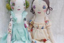 poupées et style / Poupées de chiffon, pour petits et moins petits, naïves ou artistiques