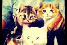 Cats, cute and budgies! / I love cats, cute things, and my budgies ;)