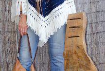 ponchos a crochet