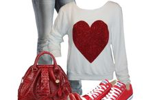 converse rojo outfit