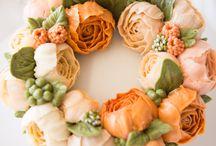 Cake - máslové květy