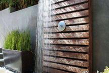prysznic na ogrodzie