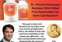 AM&PM (АМ и ПМ) - комплекс, созданный номенантом на Нобелевсую премию в 2014 году / Основная задача AM&PM (АМ и ПМ) помочь генам работать с оптимальной производительностью. В составе более 70 видов компонентов, которые делятся на несколько категорий: витамины, минералы, комплекс восстановления теломеров, комплекс реструктуризации калорий и экспрессии генов, антиоксидантный комплекс, комплекс восстановления ДНК, комплекс поддержки стволовых клеток, комплекс клеточной регуляции, пробиотики и пищеварительные ферменты.
