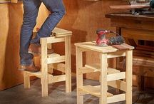 Woodwork stool